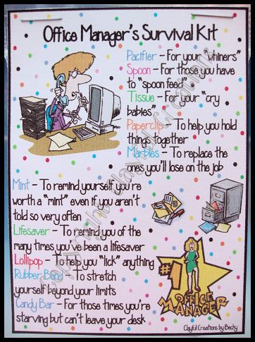 Manager Survival Kit Funny : manager, survival, funny, OFFICE, MANAGER's, Survival, Becky's, Office, Gifts,, Staff, Gifts