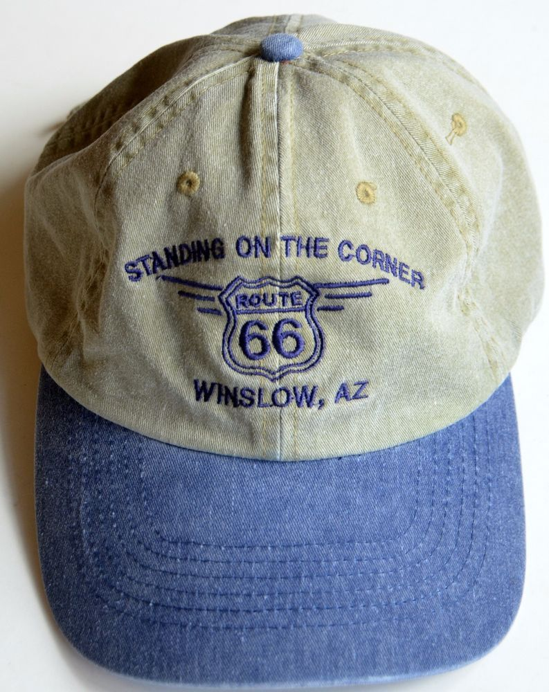 ... various colors 3b3e8 ae21b Route 66 Cap Hat Standing on the Corner  Winslow d5c5a4f27eb2