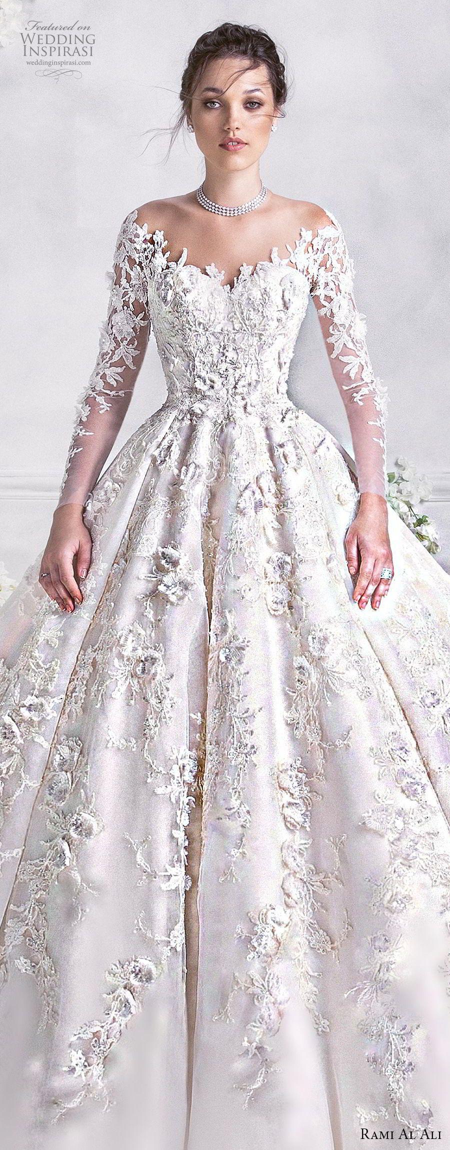 Rami al ali wedding dresses ball gowns neckline and wedding