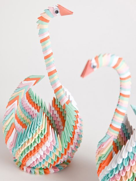 This is a tutorial on how to make 3d origami Swan . This is a ... | 622x470