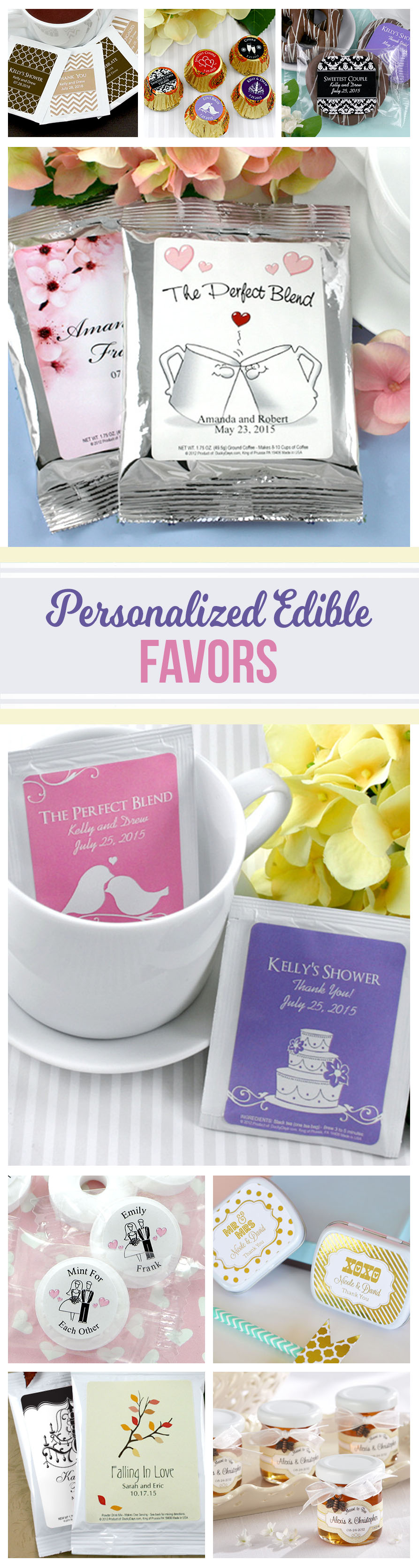 Affordable Personalized Edible Wedding or Bridal Shower Favors ideas ...
