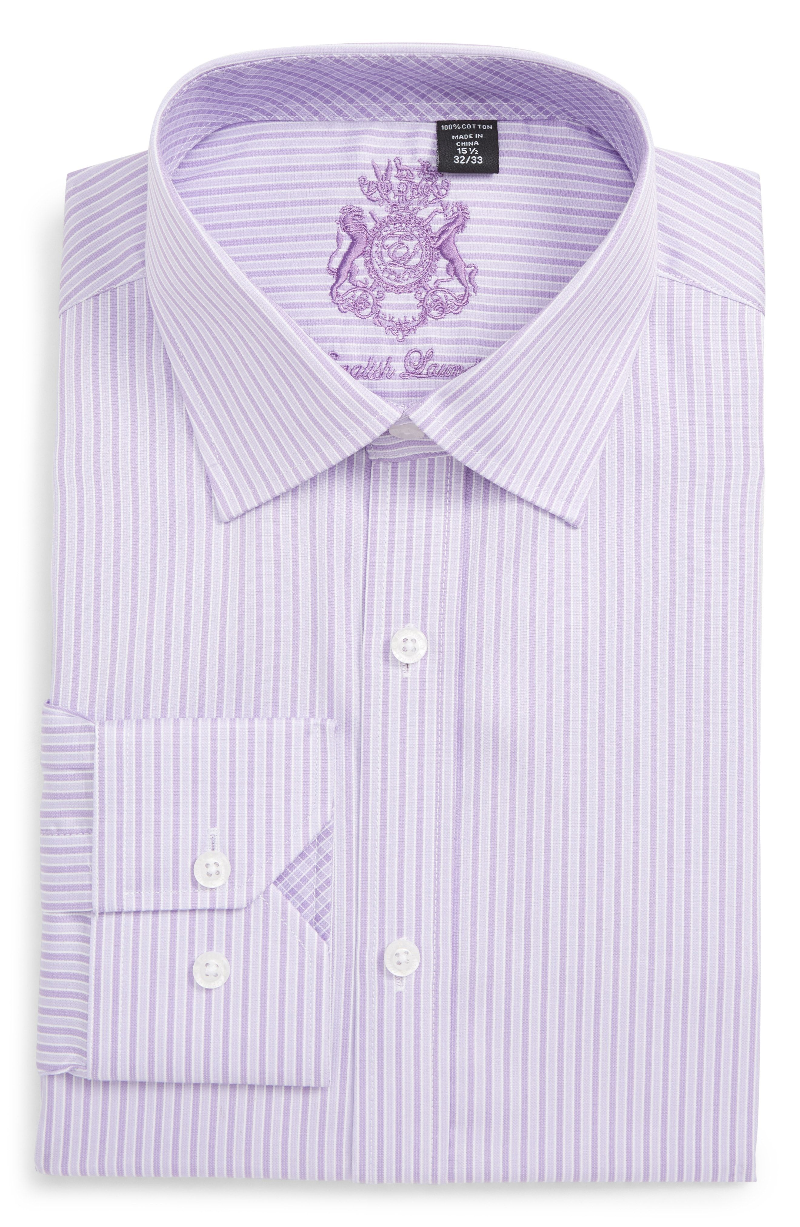Trim Fit Stripe Dress Shirt In Purple Shirt Dress Shirts