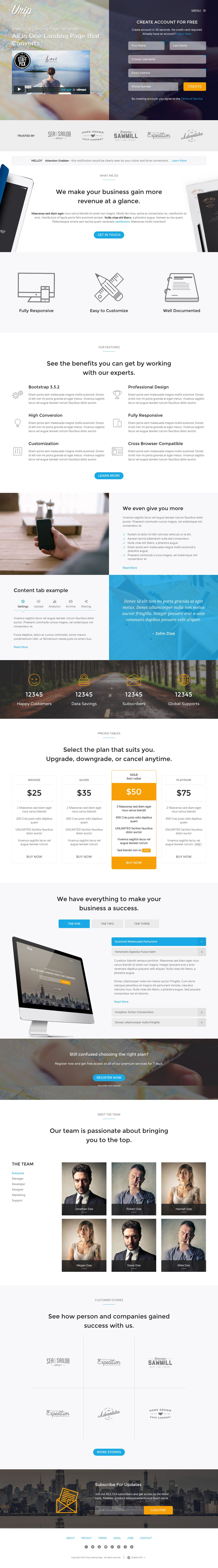 Urip Is A Smart Landing Page HTML Template Focused On Lead - Lead generation website template