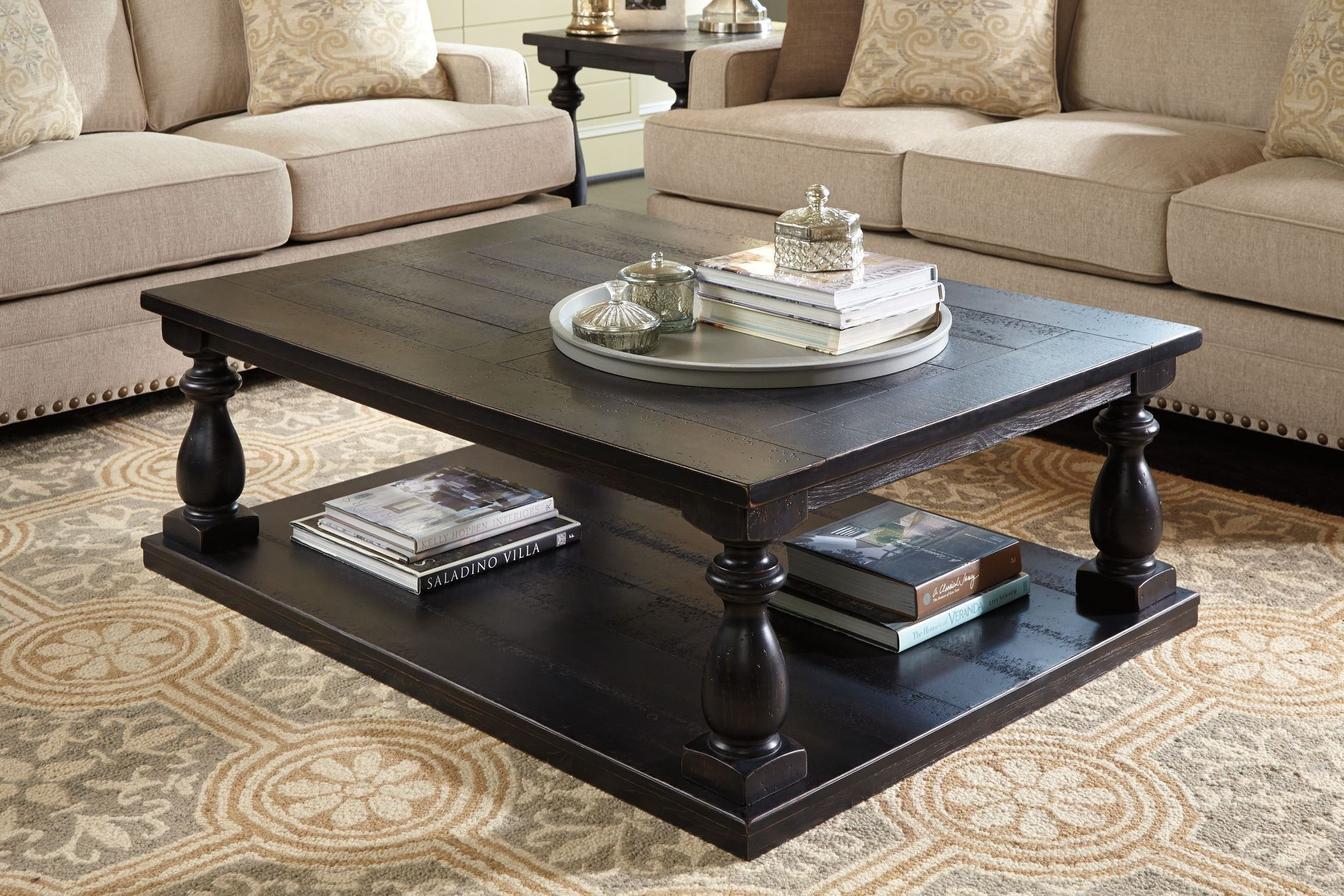 I Want This Set From Coleman Mallacar Rectangular Cocktail Table - Ashley furniture pineville nc