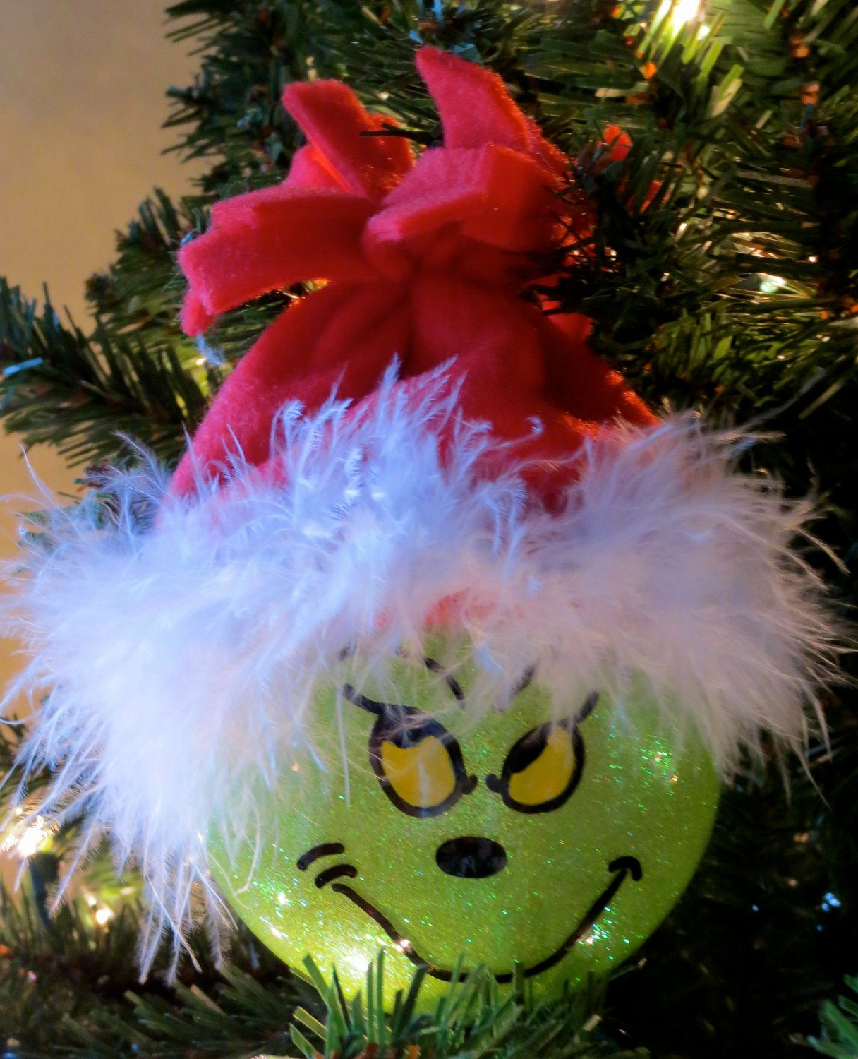 The Grinch Christmas Ornament by BabyBirdCrafts on Etsy