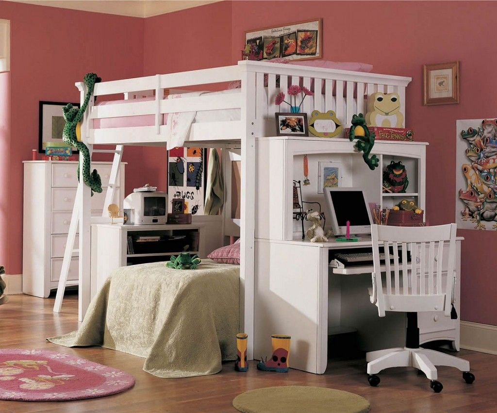 Loft bed with desk full size  Lea Getaway Full Size Loft Bed with Desk  Kidus Room  Pinterest