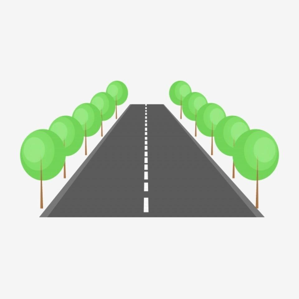 Straight Road Small Tree Illustration Road Clipart Green Tree Cartoon Illustration Png Transparent Clipart Image And Psd File For Free Download Ilustracion De Arbol Ilustracion De Dibujos Animados Arboles Verdes