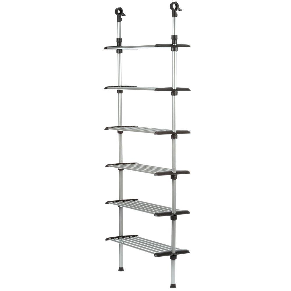 Whitmor Supreme Garment Closet Collection 10 In D X 25 5 In W X 61 In H 6 Shelf Metal Closet System 6779 4466 The Home Depot Closet System Wire Closet Systems Adjustable Closet System