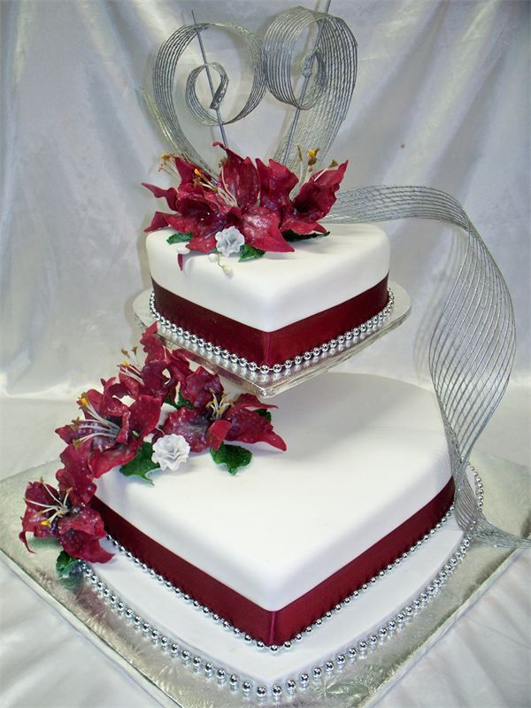 wedding cakes heart shaped 3 tier shaped wedding anniversary cakes fancy cakes 24484
