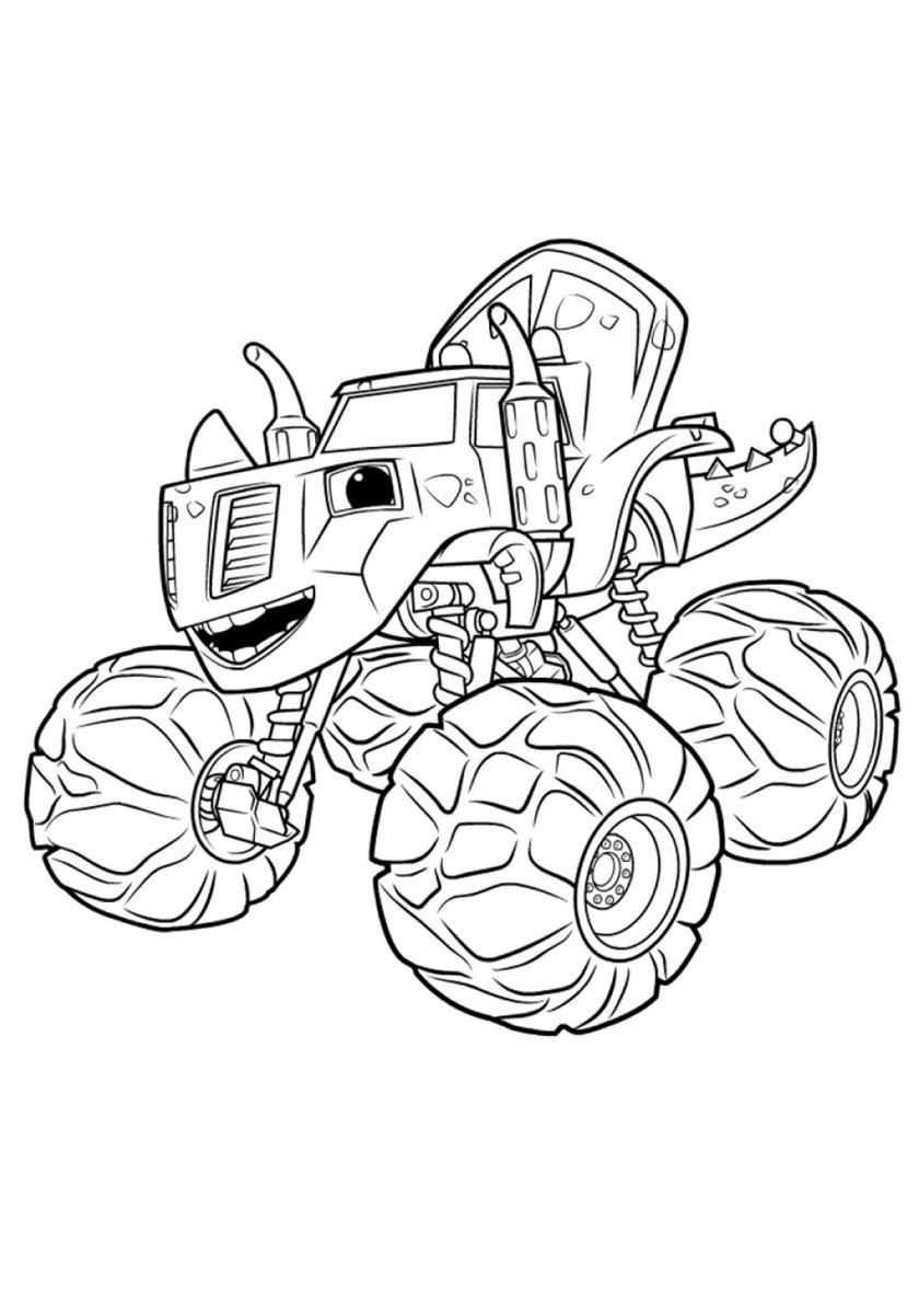 Blaze And The Monster Machines Coloring Zeg Monster Truck Coloring Pages Truck Coloring Pages Coloring Pages For Boys [ 1188 x 840 Pixel ]