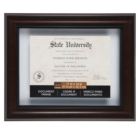 Mahogany Black Document Float Frame 11 X 14 By Studio Decor Document Frame Studio Decor Diploma Frame