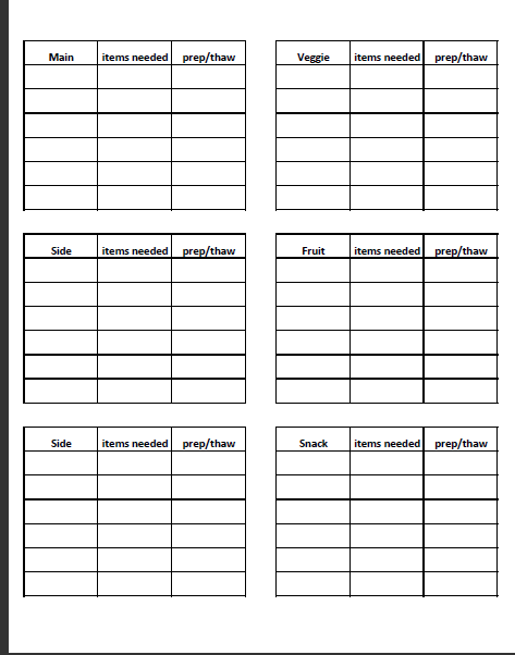 weekly menu template for daycare google search gcpp pinterest
