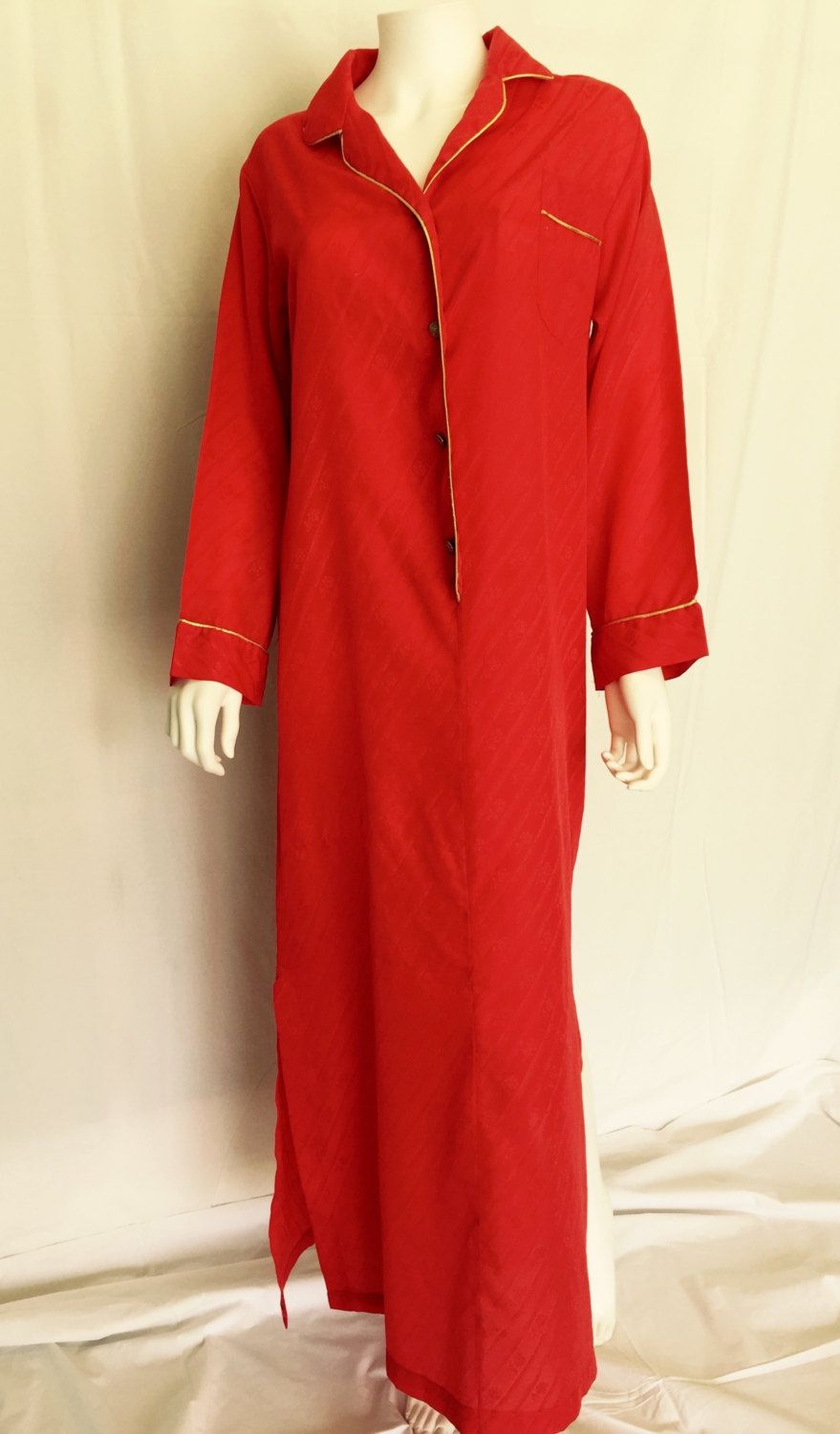 Vintage Red Christian Dior Dressing Gown by AntoinettesCake on Etsy ...