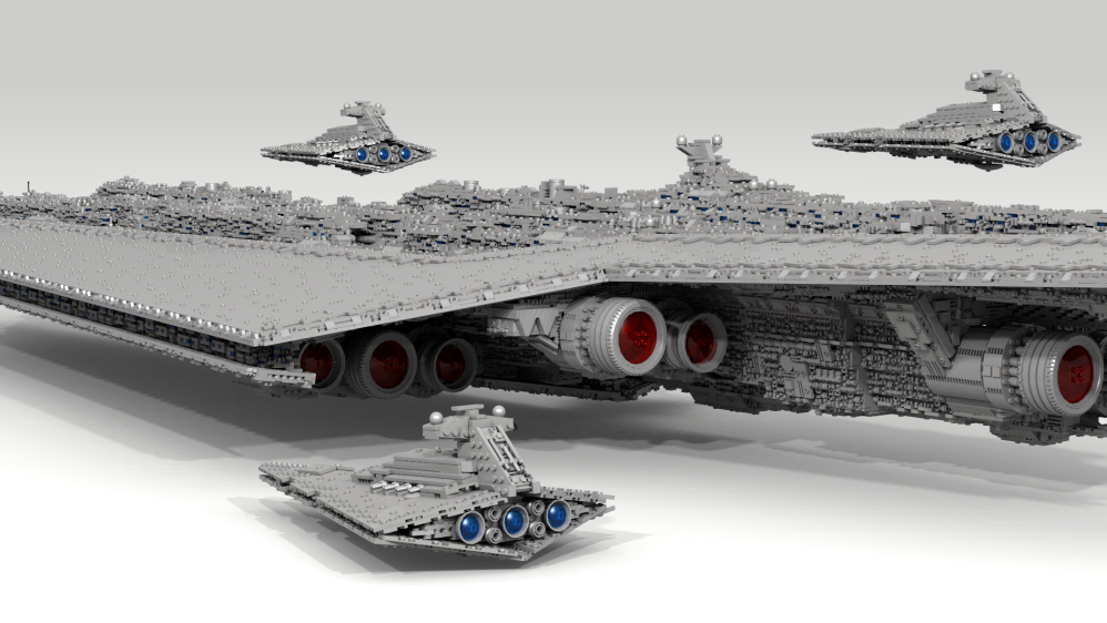 LDD MOC] 71,000 piece, 13-foot Super Star Destroyer - LEGO