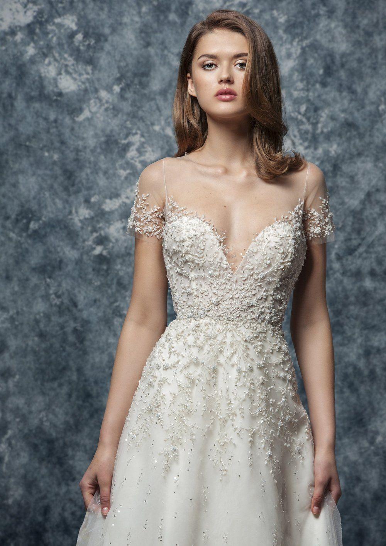 Ef807 Calla In 2021 A Line Wedding Dress Long Sleeve Mermaid Wedding Dress Enaura Bridal [ 1413 x 1000 Pixel ]