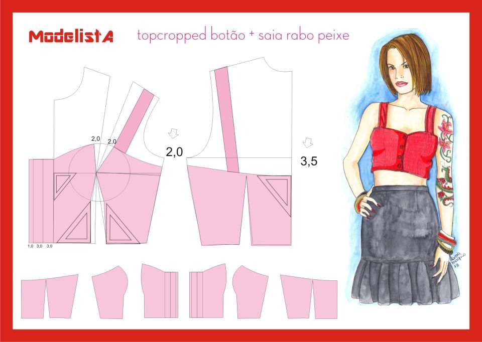 top cropped | up cycle | Pinterest | Costura, Ropa and Moldes