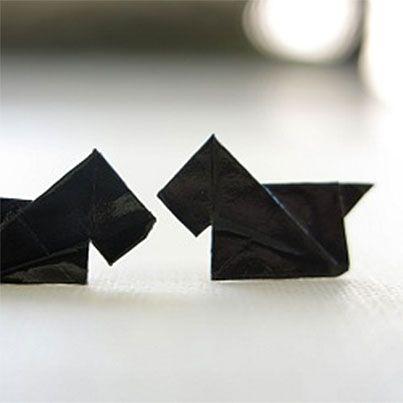 DIY Origami Scottie Dog Earrings