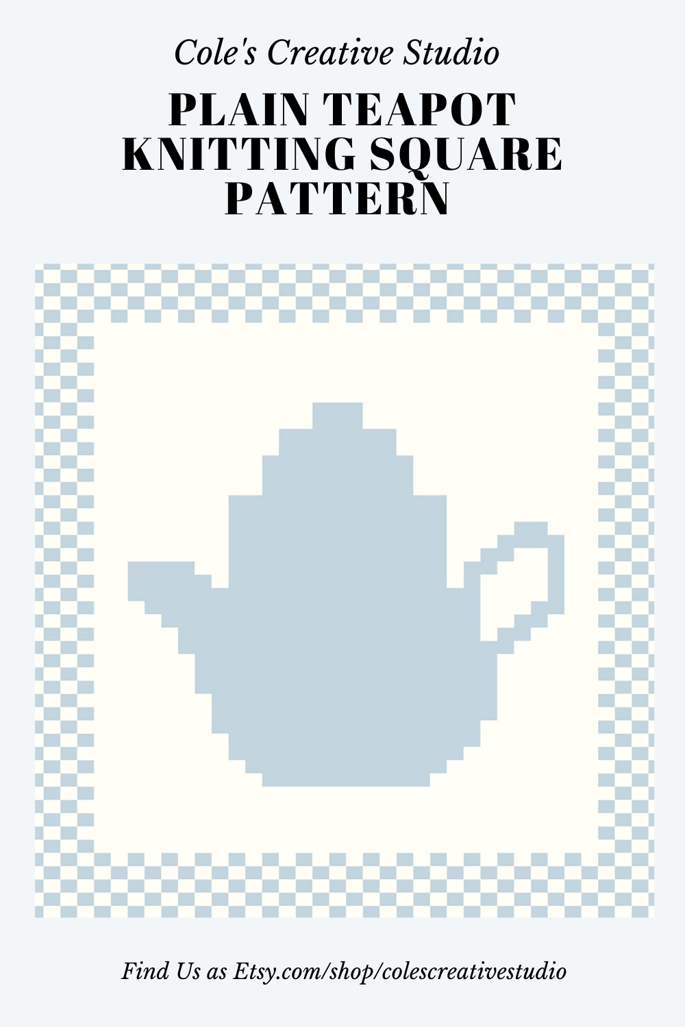 Teapot Knitting Square Pattern Chart Instant Download Etsy In 2020 Knitted Squares Pattern Knitting Squares Square Pattern