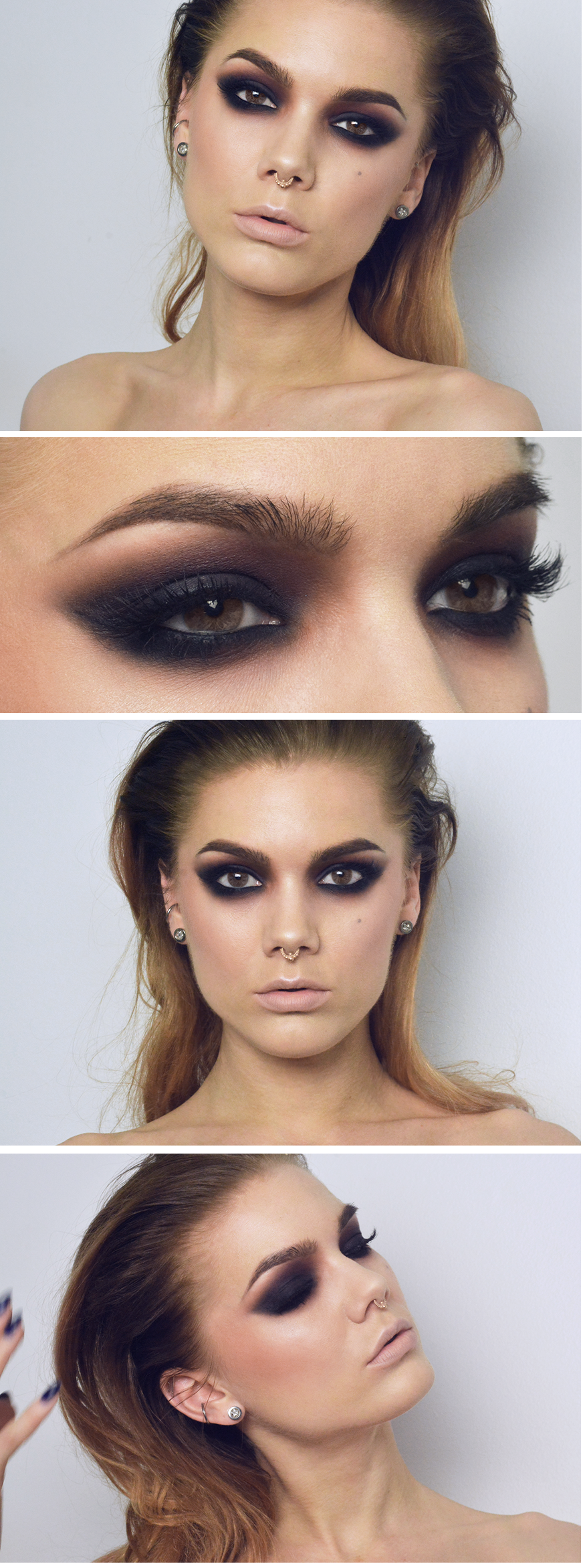 Todays look Dark matter smokey eyes  Halloween party ideas