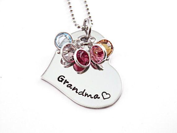 Grandma necklace birthstone Custom Personalized jewelry Mimi Mawmaw Nana Gift