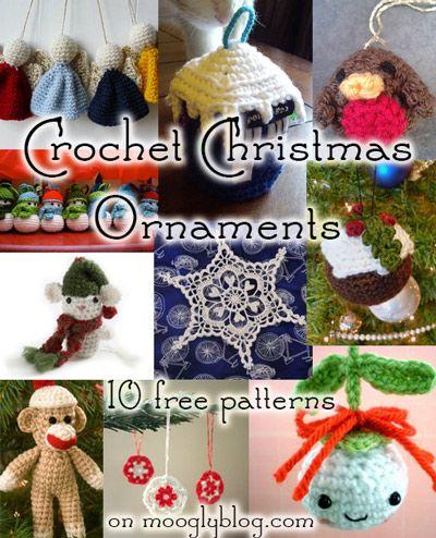Crochet Adornos de Navidad: 10 patrones libres para hacer de este ...