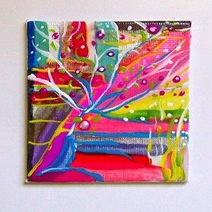 Nail Polish Canvas Old Painting Art Is Dead Back
