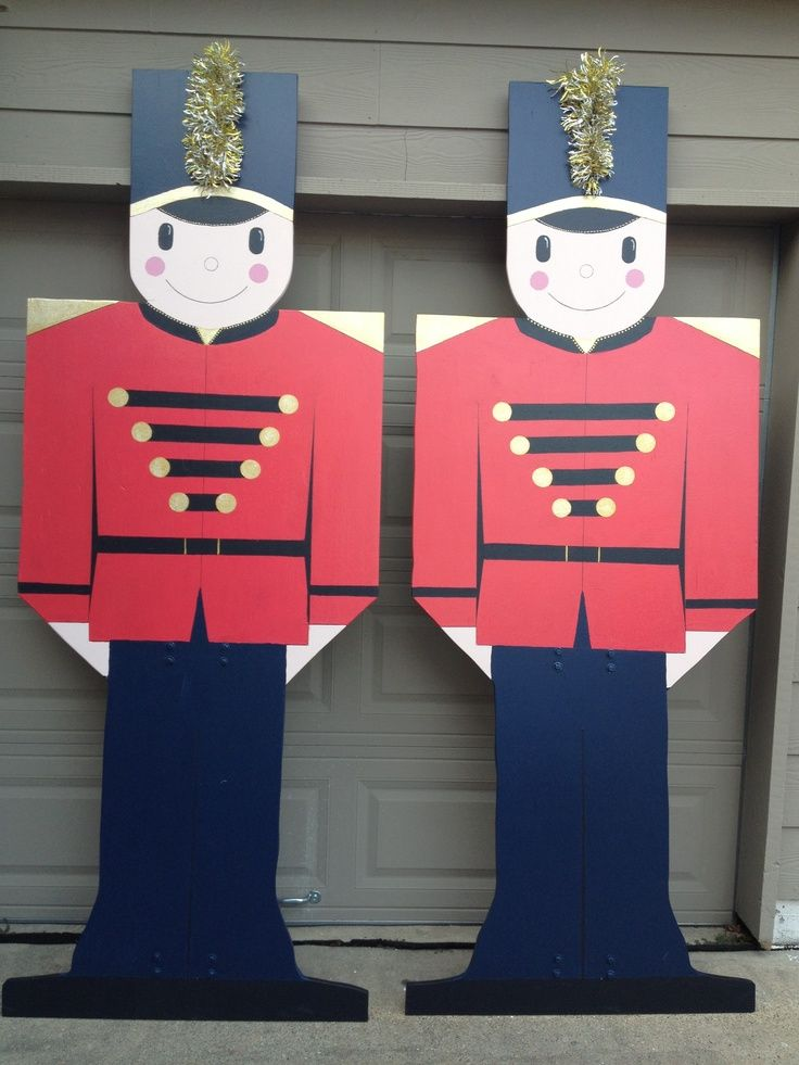 Outdoor Toy Soldier Christmas Decorations.Plywood Christmas Yard Decoration Patterns Toy Soldier