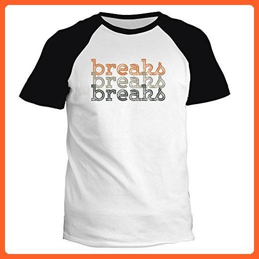 Idakoos - Breaks repeat retro - Music - Raglan T-Shirt - Retro shirts (*Partner-Link)