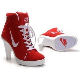 Nike Dunk Swoosh Heels Red/White