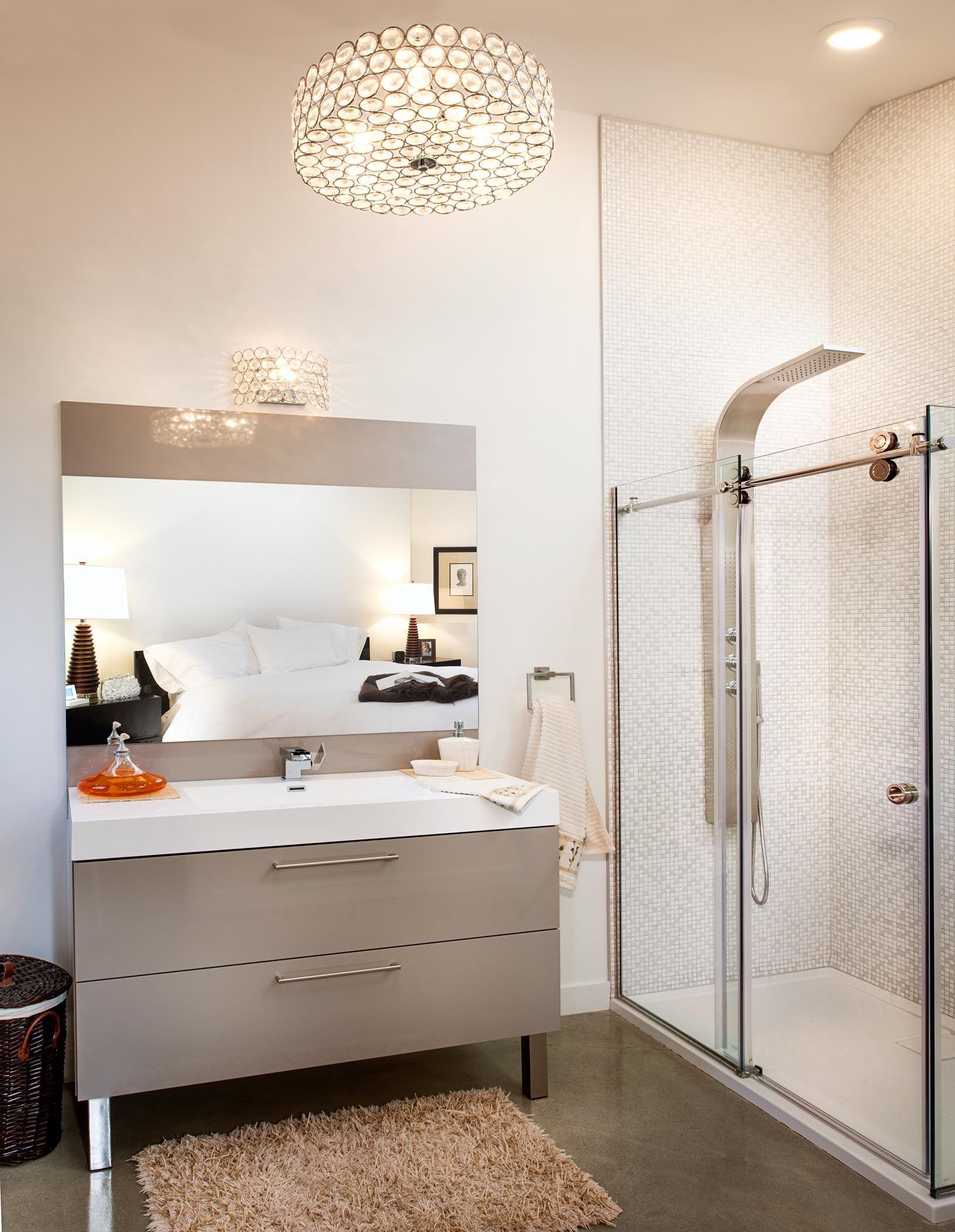 Vous pouvez adopter la suspension d 39 un luminaire pour une Luminaire pour miroir salle de bain