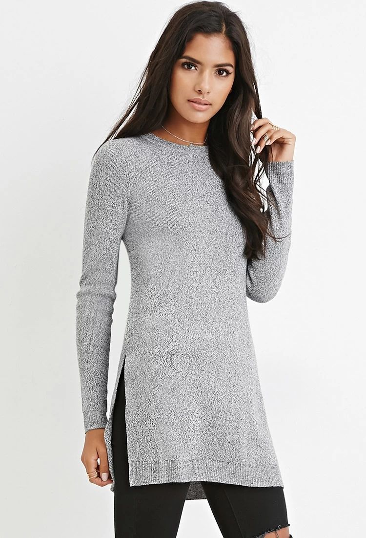 Side-Slit Sweater Tunic | Forever 21 #foreverfamily | forever 21 ...