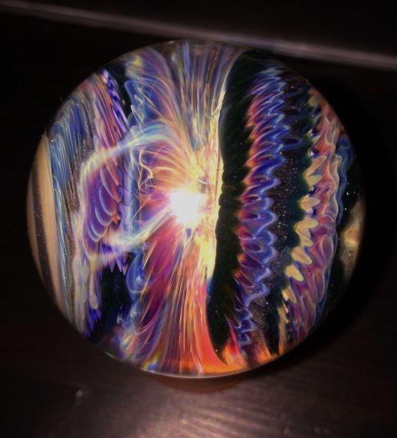 Kenan Tiemeyer 2013 Fantasy Glass Marbles Glass Art Marble Bag