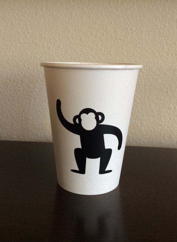 Monkey Party Cups 24 count Monkey Cups Gorilla Cups by SteshaParty