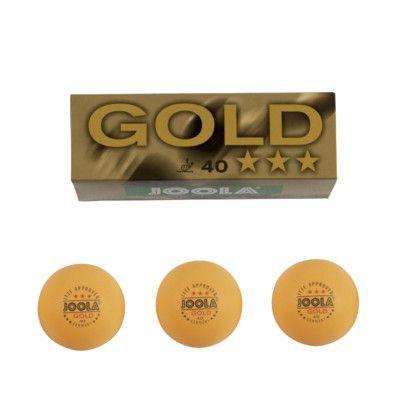 Joola Gold 3-Star 40 mm Ping Pong Balls (3 Count) Color: Orange