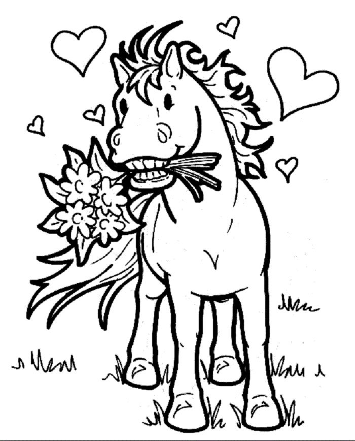 ausmalbilder kostenlos pferde