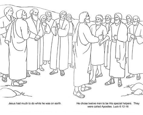 Top Coloring Jesus And The 12 Disciples Coloring Page With Twelve