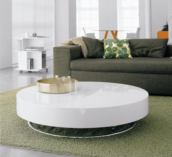 ... Design Couchtisch Rund Hochglanz Weiß Olivengrün Sofa Möbel   Couchtisch  Weiss Design Ideen ...