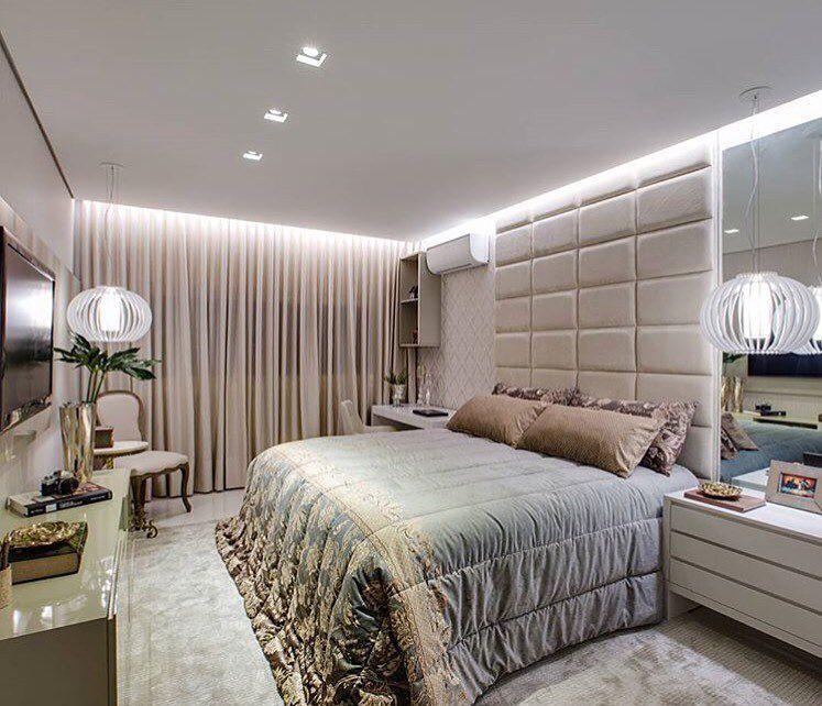 Tá bom por hj neh?!  Encerrando com este quarto de casal que é puro requinte e aconchego. Amei Projeto Ninfa Canedo Me encontre também no @pontodecor {HI} Snap:  hi.homeidea  http://ift.tt/23aANCi #bloghomeidea #olioliteam #arquitetura #ambiente #archdecor #archdesign #hi #cozinha #homestyle #home #homedecor #pontodecor #quartocasal #homedesign #photooftheday #love #interiordesign #interiores  #picoftheday #decoration #world #varandagourmet  #lovedecor #architecture #archlovers #inspiration…