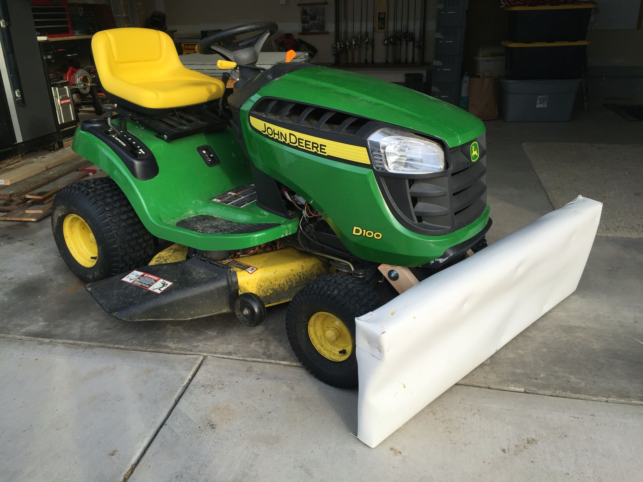 John Deere Snow Plow Diy Snow Plow For John Deere Mower Made From 2x And Tpo Roofing