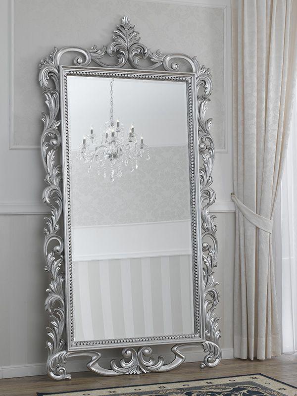 Specchiera Vanitas stile Barocco Moderno foglia argento specchio ...