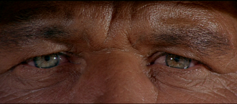 Charles Bronson, Once Upon a Time in the West, 1968, Sergio Leone. …the eyes are the most important element to me. Everything can be read in them…(Sergio Leone).