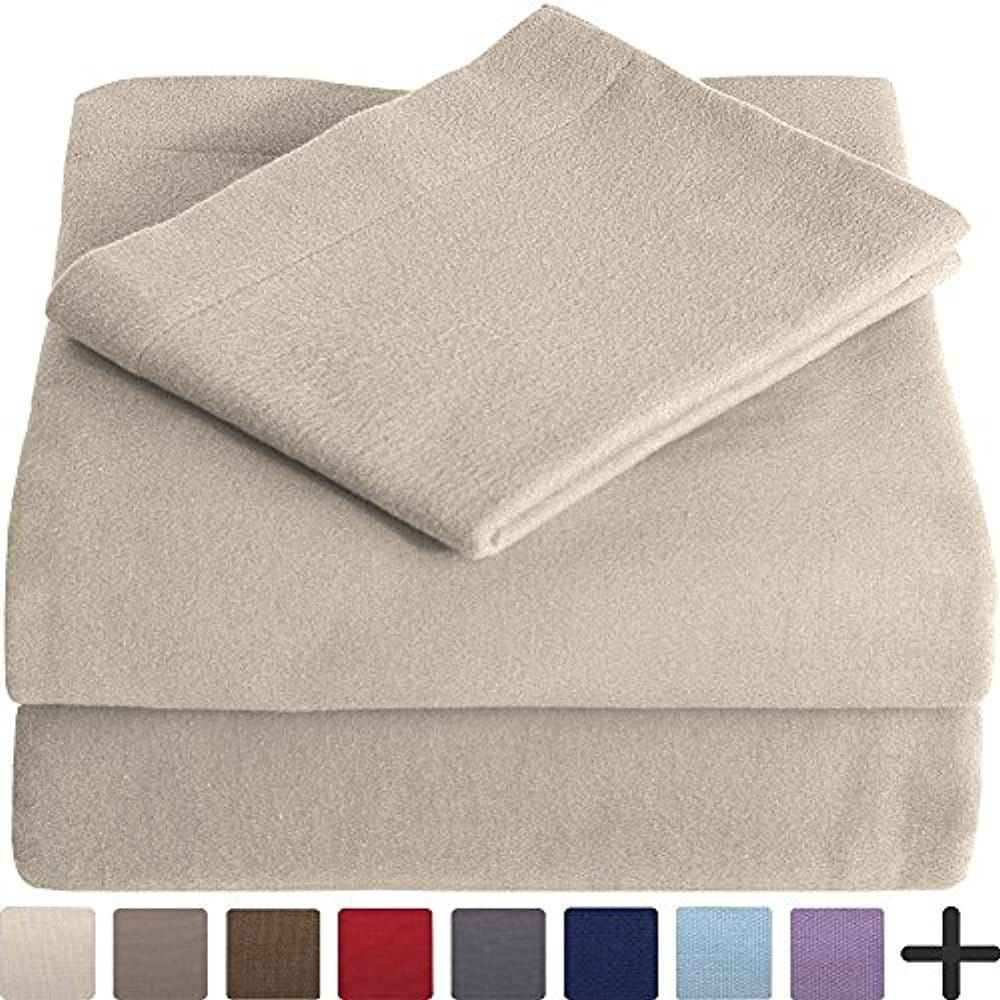 af771eea6eb5 Union 100% Velvet Flannel Sheet Set - Extra Soft Heavyweight - Double  Brushed Flannel - Deep Pocket