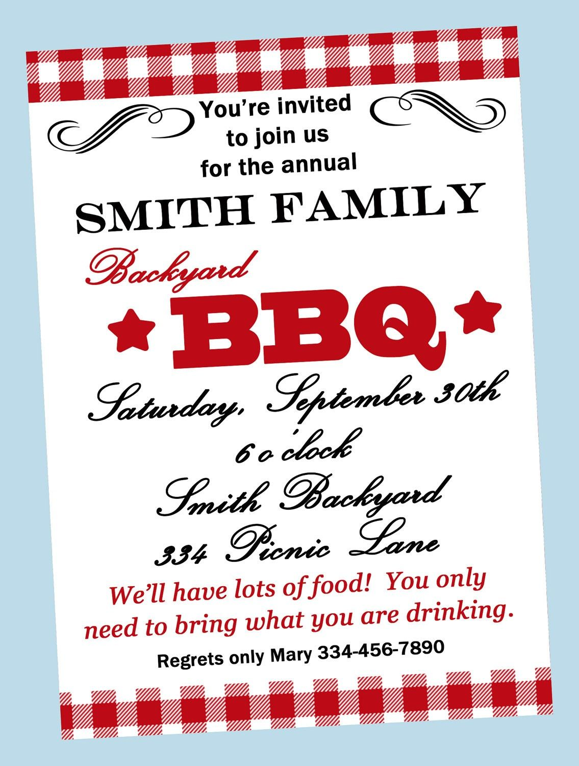 Bbq Invitations Wording Samples | Retirement Party | Pinterest