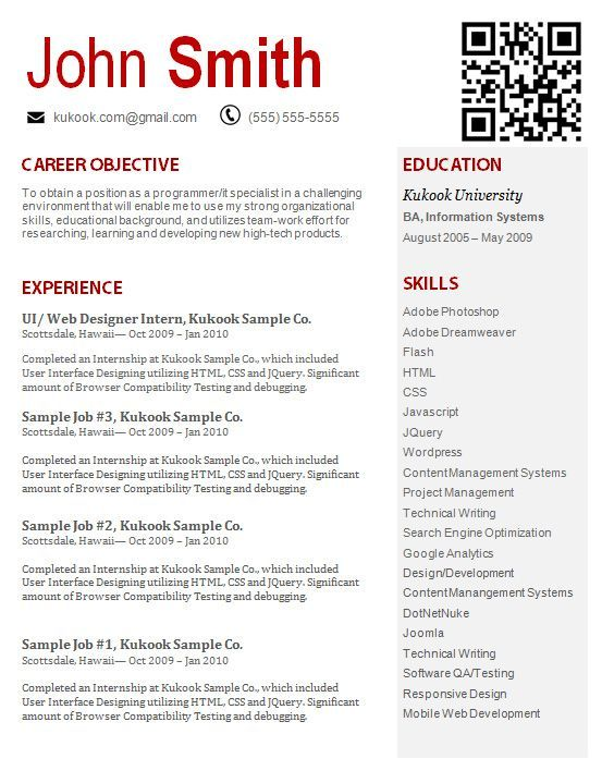 Creative Skills Based Resume Template  Google Search  Careers