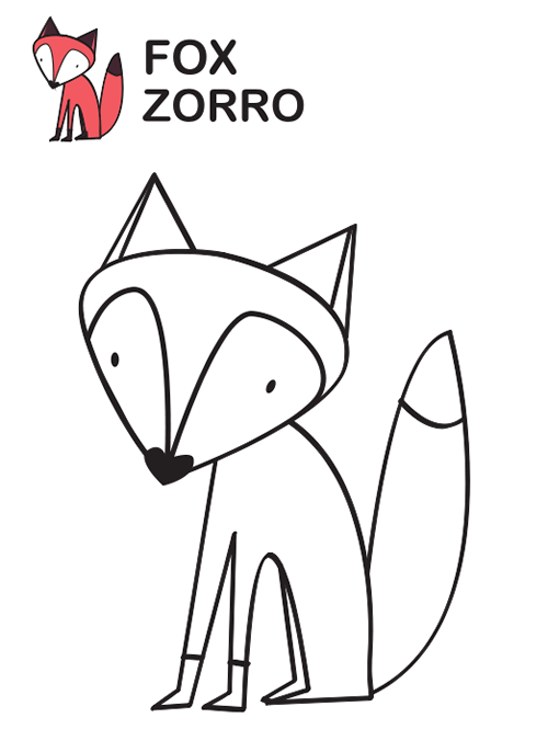 Bonito Zorro para colorear | bebe | Pinterest | Embroidery, Color y ...