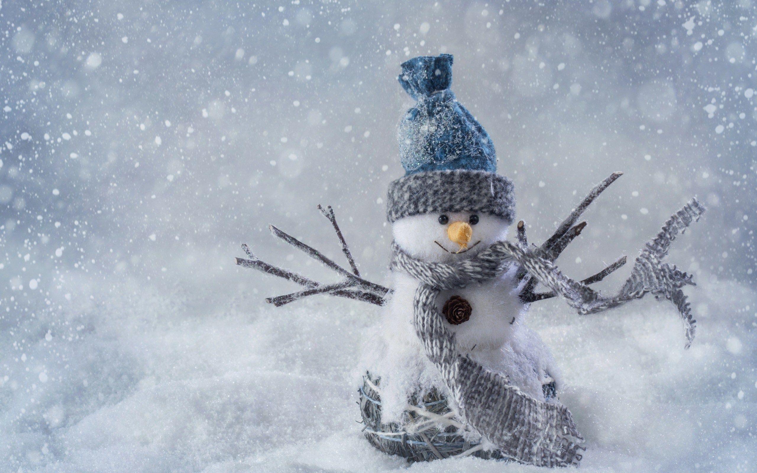 Winter Computer Backgrounds Wallpaper 2560x1600 Christmas Wallpaper Snowman Christmas Snowman
