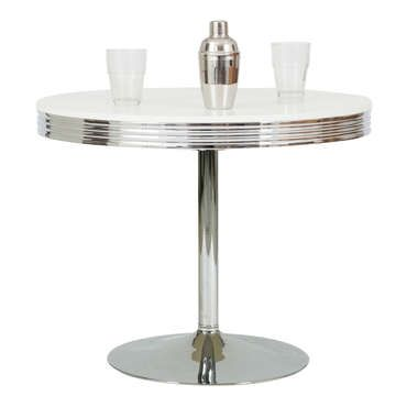Table Ronde Dean Coloris Chrome Tritooshop Table De Cuisine Table Vintage Table
