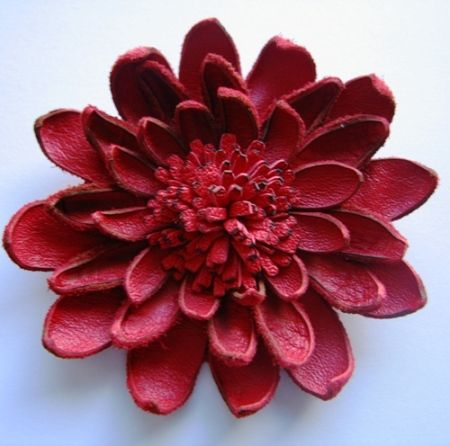 How to make leather flower leather crafts pinte for Leather flowers for crafts
