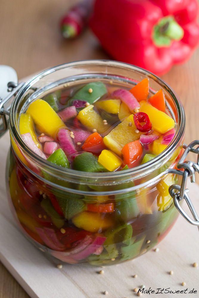 eingelegte bunte paprika rezept gem se pinterest chili chutney and pickles. Black Bedroom Furniture Sets. Home Design Ideas