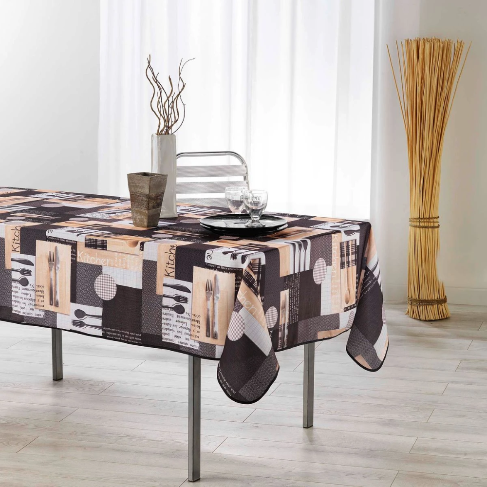 Nappe Polyester Collection Cantine Table Basse Nappe Couverts